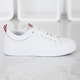 SHELOVET Stylish Sneakers With Eco Leather white 4