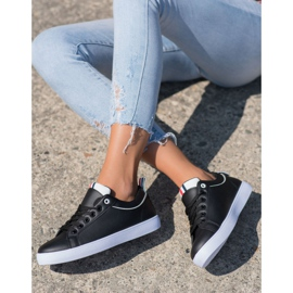 SHELOVET Stylish Sneakers With Eco Leather black 2