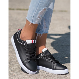 SHELOVET Stylish Sneakers With Eco Leather black 3