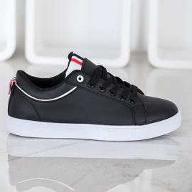 SHELOVET Stylish Sneakers With Eco Leather black 4
