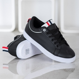 SHELOVET Stylish Sneakers With Eco Leather black 1