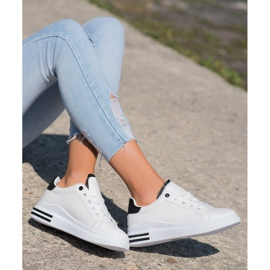SHELOVET Fashionable Tied Sneakers white 4