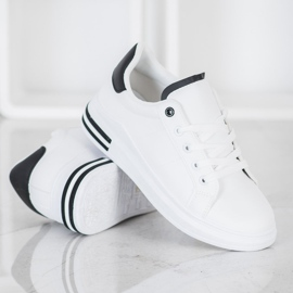 SHELOVET Fashionable Tied Sneakers white 2