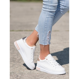 SHELOVET Fashionable Tied Sneakers white 3