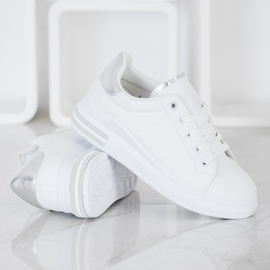 SHELOVET Fashionable Tied Sneakers white 1