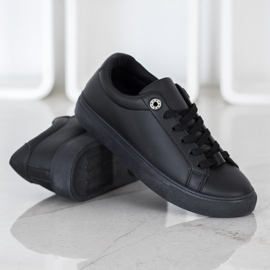 SHELOVET Sneakers With Eco Leather black 1