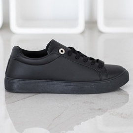 SHELOVET Sneakers With Eco Leather black 4