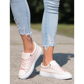 SHELOVET Sneakers With Eco Leather pink 2