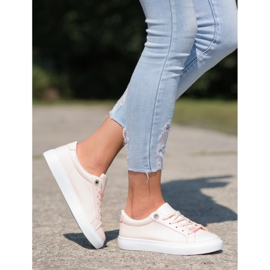 SHELOVET Sneakers With Eco Leather pink 3