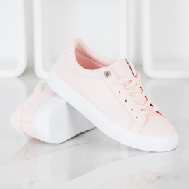 SHELOVET Sneakers With Eco Leather pink 1