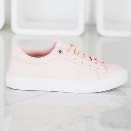 SHELOVET Sneakers With Eco Leather pink 4