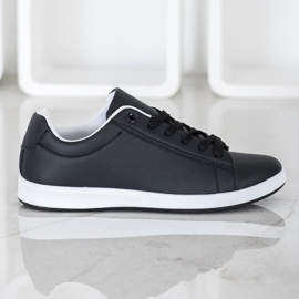 SHELOVET Casual Black Sneakers 1