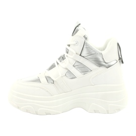 Evento High sports shoes 20BT26-3192 white silver 2