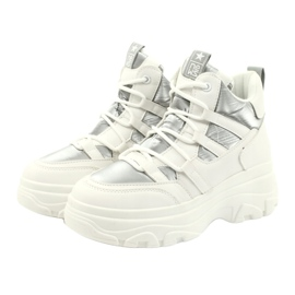 Evento High sports shoes 20BT26-3192 white silver 4