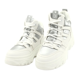 Evento High sports shoes 20BT26-3192 white silver 3