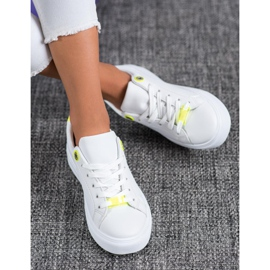SHELOVET Sneakers With Eco Leather white 1