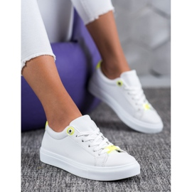 SHELOVET Sneakers With Eco Leather white 5