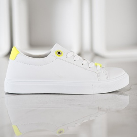 SHELOVET Sneakers With Eco Leather white 2