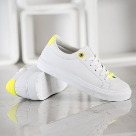 SHELOVET Sneakers With Eco Leather white 3
