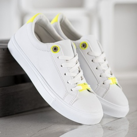 SHELOVET Sneakers With Eco Leather white 4