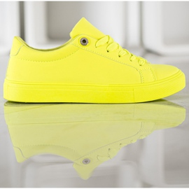 SHELOVET Sneakers With Eco Leather yellow 3