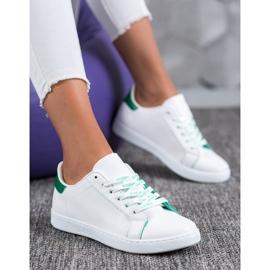 SHELOVET Fashionable Sports Shoes white green 5