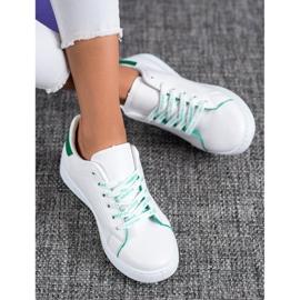 SHELOVET Fashionable Sports Shoes white green 1