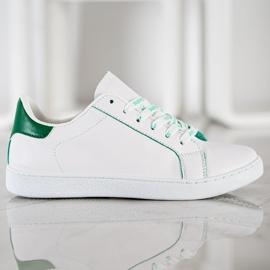 SHELOVET Fashionable Sports Shoes white green 2
