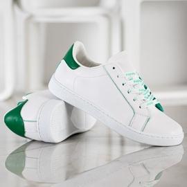 SHELOVET Fashionable Sports Shoes white green 3