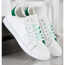 SHELOVET Fashionable Sports Shoes white green 4