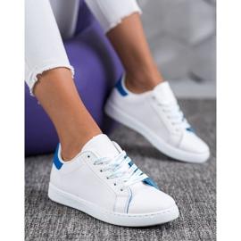 SHELOVET Fashionable Sports Shoes white blue 1