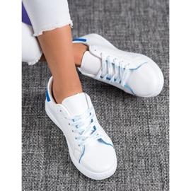 SHELOVET Fashionable Sports Shoes white blue 2