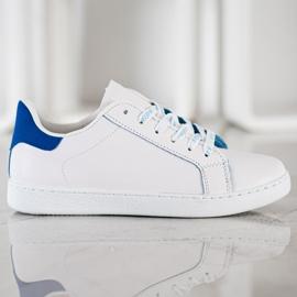 SHELOVET Fashionable Sports Shoes white blue 3