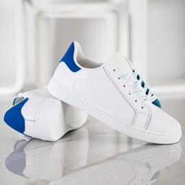 SHELOVET Fashionable Sports Shoes white blue 4