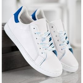 SHELOVET Fashionable Sports Shoes white blue 5