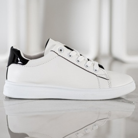 SHELOVET Classic Sport Shoes white black 2