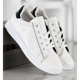 SHELOVET Classic Sport Shoes white black 4