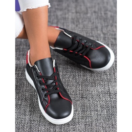 SHELOVET Classic Sport Shoes black red 1