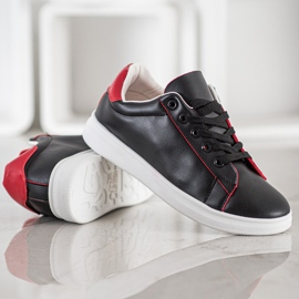 SHELOVET Classic Sport Shoes black red 3