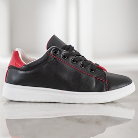 SHELOVET Classic Sport Shoes black red 4
