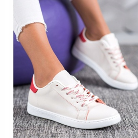 SHELOVET Fashionable Sports Shoes white red 5
