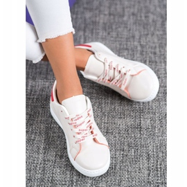 SHELOVET Fashionable Sports Shoes white red 1
