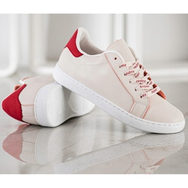 SHELOVET Fashionable Sports Shoes white red 3