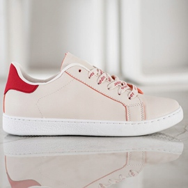 SHELOVET Fashionable Sports Shoes white red 4