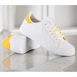 SHELOVET Fashionable Sports Shoes white yellow 4