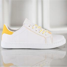 SHELOVET Fashionable Sports Shoes white yellow 5