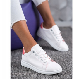 SHELOVET Classic Sport Shoes white pink 1