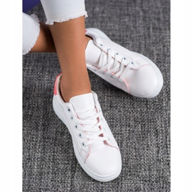 SHELOVET Classic Sport Shoes white pink 2