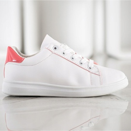 SHELOVET Classic Sport Shoes white pink 3
