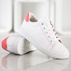 SHELOVET Classic Sport Shoes white pink 4